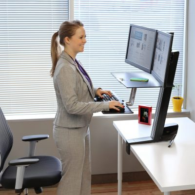 Why Sit-Stand Blog - ET WF-S Lady Working